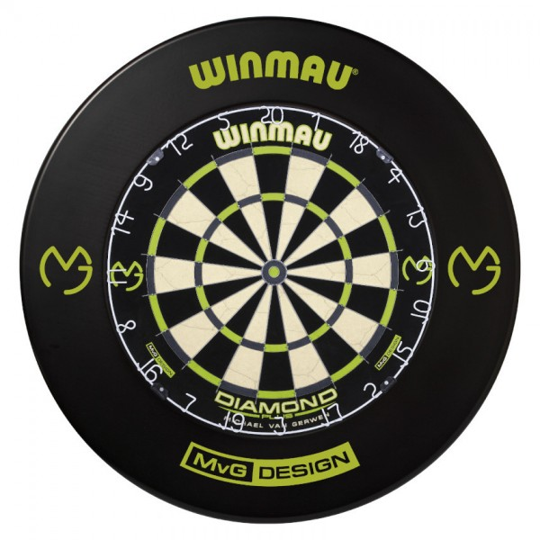 WINMAU MvG Dartboard Set