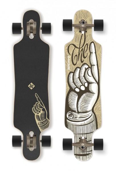 """STREETSURFING Longboard Freeride 39"""" - The Finger"""