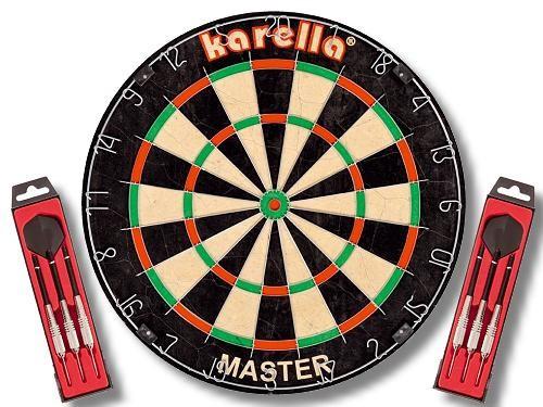 KARELLA Dartboard Master + 2x Steeldart ST-1