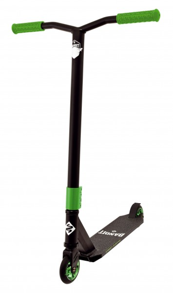 STREETSURFING Torpedo Stunt Scooter mit Alufelge, Black Core Green