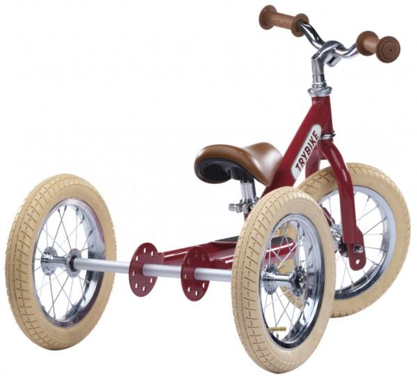 KLEINE FLITZER Trybike steel 3 wheeler, Vintage rot