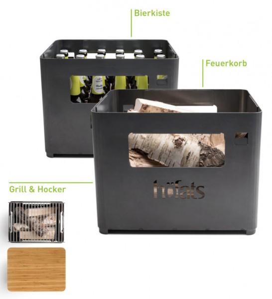 HÖFATS Bierbox mit Grillrost und Auflagebrett