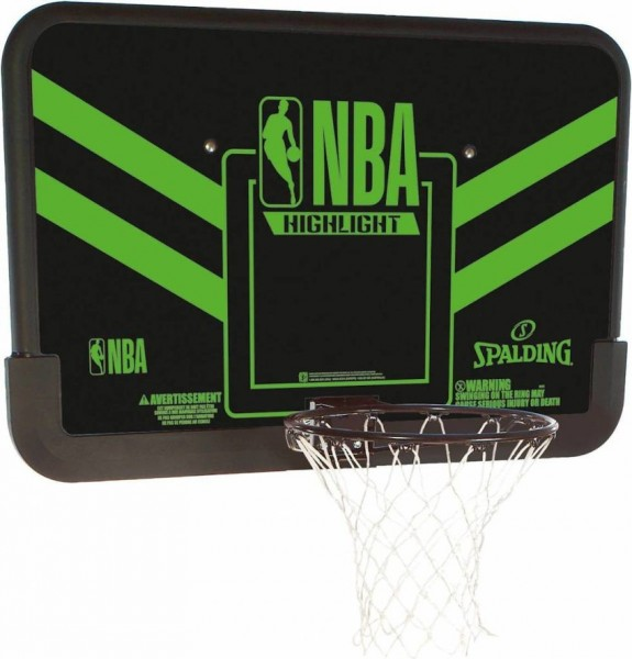 SPALDING Highlight Backboard schwarz/grün